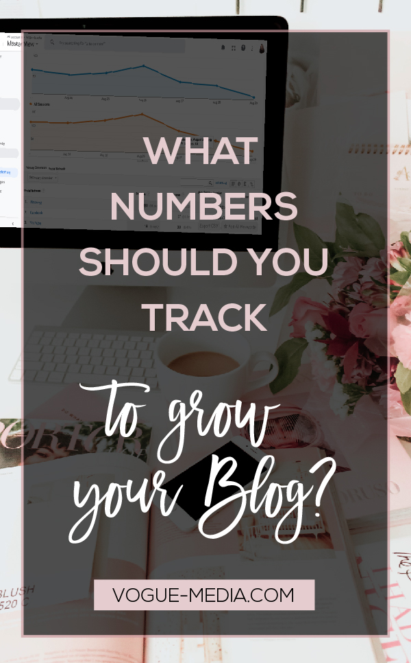 Computer showing numbers to track to grow your blog