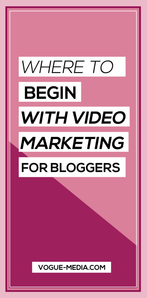 Start a Video Marketing Strategy (For Bloggers!)