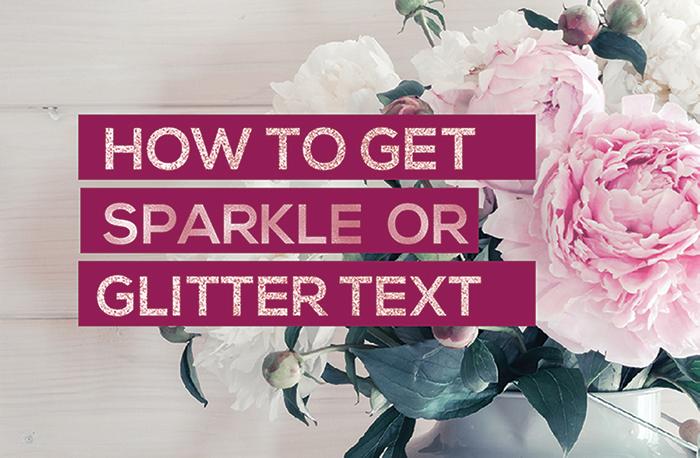 Sparkle Glitter Text